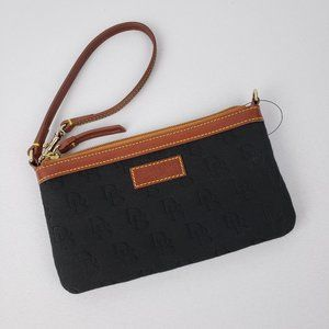 Dooney & Bourke Black & Brown Wristlet
